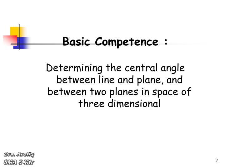 Basic Competence :