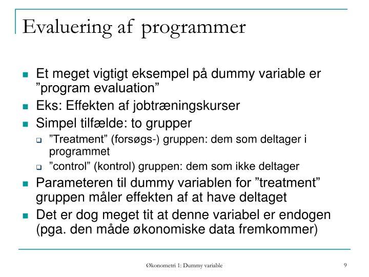 Evaluering af programmer
