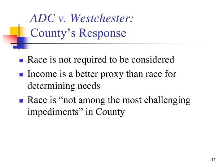 ADC v. Westchester: