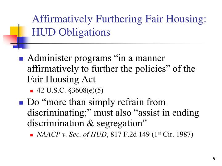 Affirmatively Furthering Fair Housing: