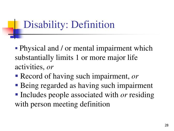 Disability: Definition