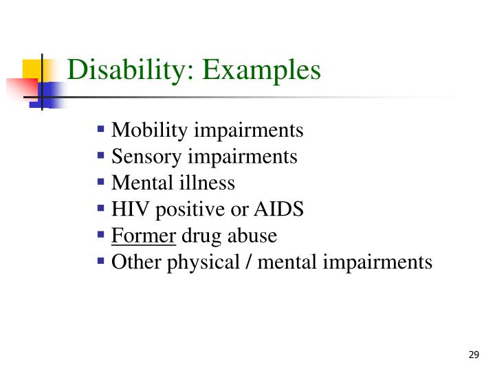 Disability: Examples