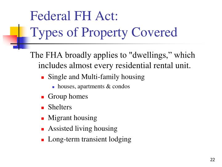 Federal FH Act: