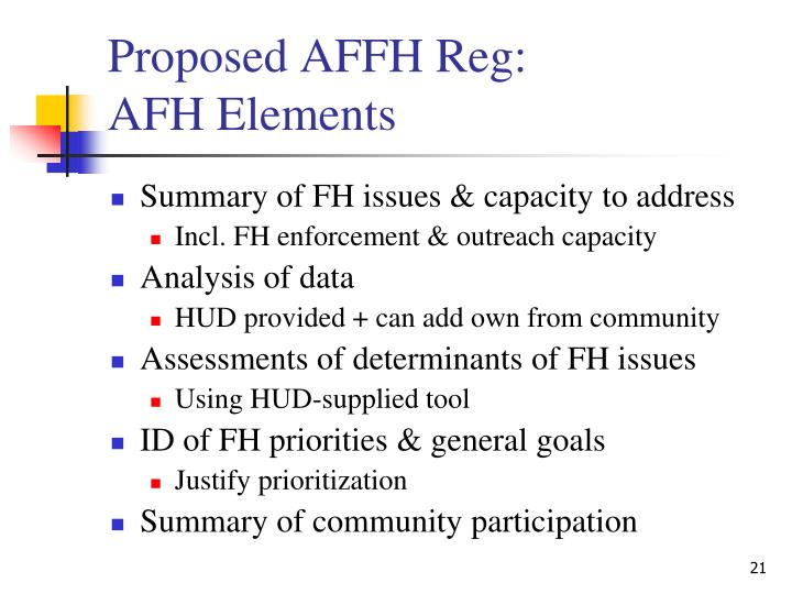 Proposed AFFH Reg: