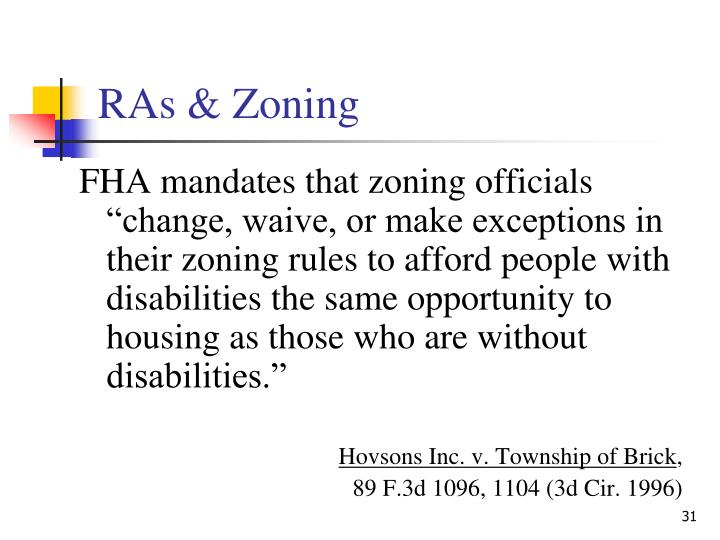 RAs & Zoning