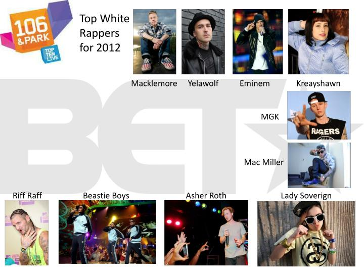 Top White Rappers for 2012