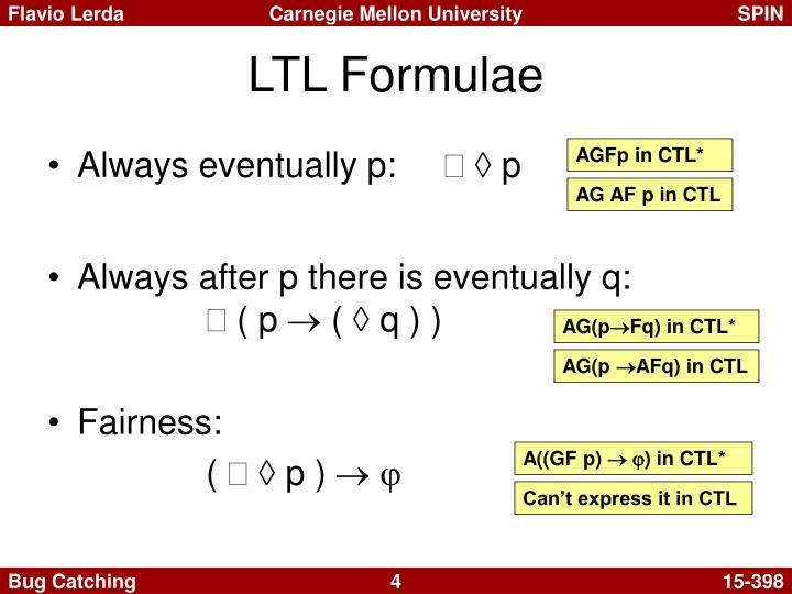 LTL Formulae