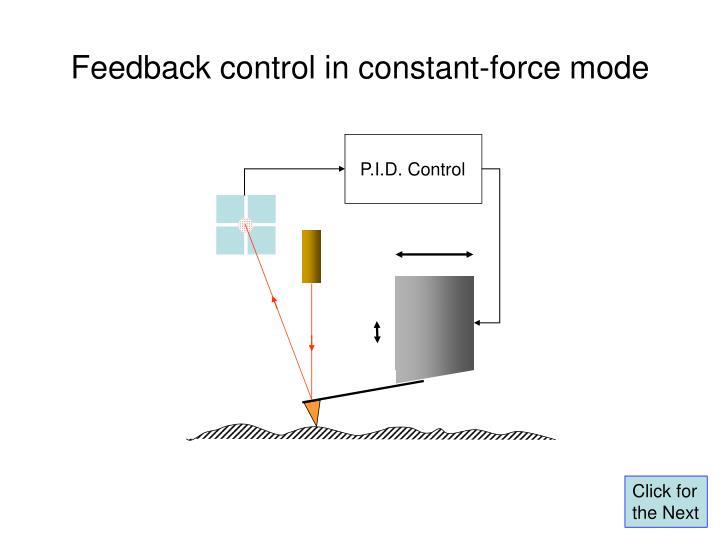 P.I.D. Control