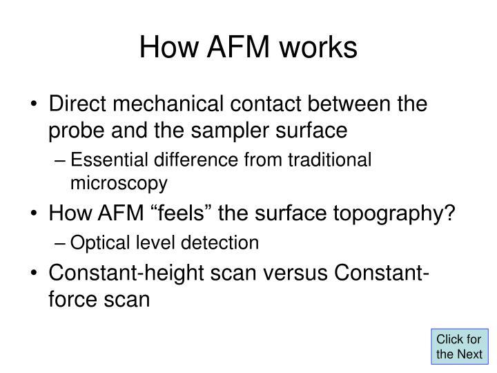 How AFM works