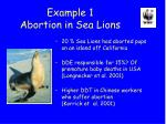 example 1 abortion in sea lions