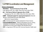 1 2 psr co ordination and management