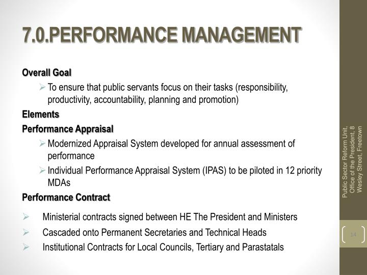 7.0.PERFORMANCE MANAGEMENT