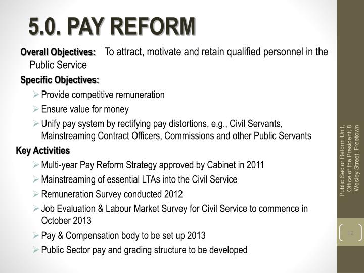 5.0. PAY REFORM