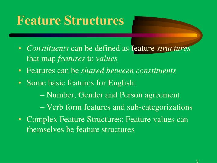 Feature structures