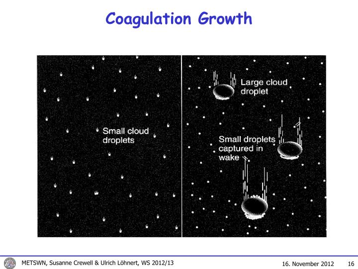 Coagulation Growth