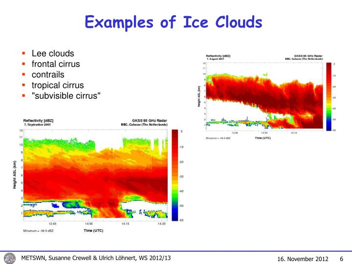Examples of Ice Clouds