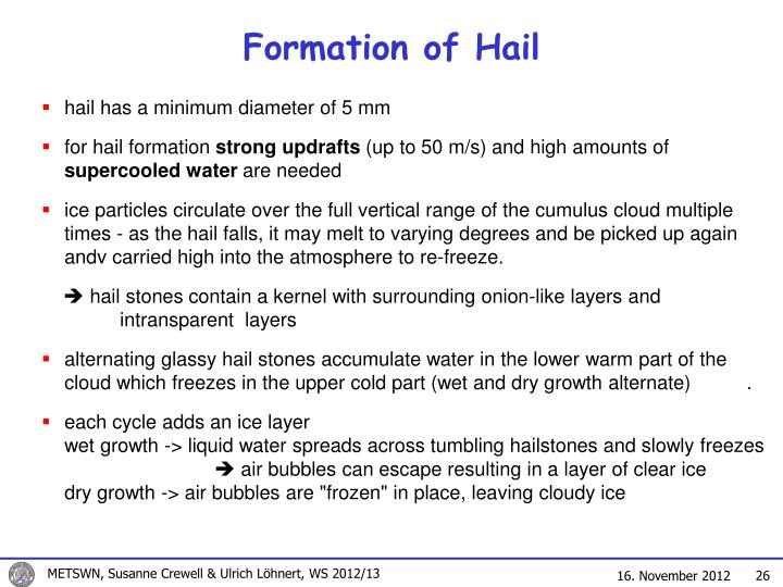 Formation of Hail
