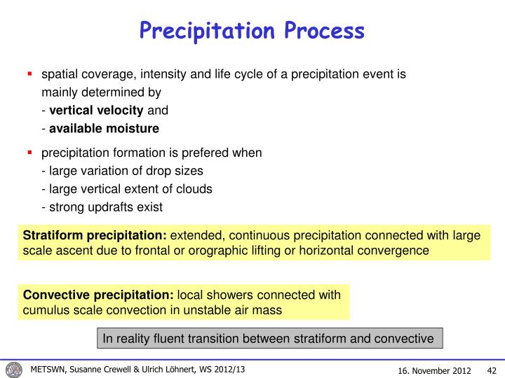 Precipitation Process