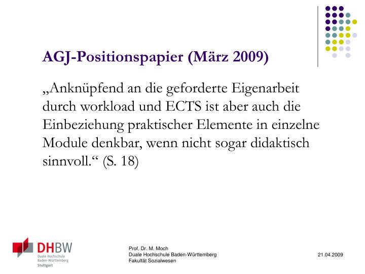 AGJ-Positionspapier (März 2009)