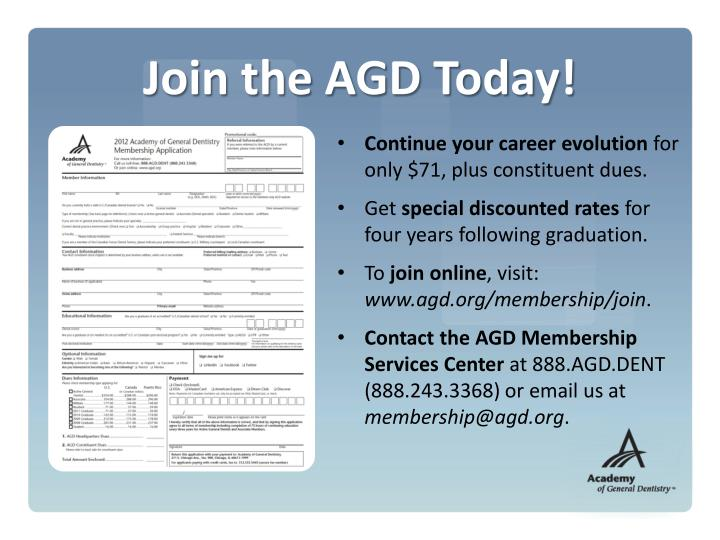 Join the AGD Today!