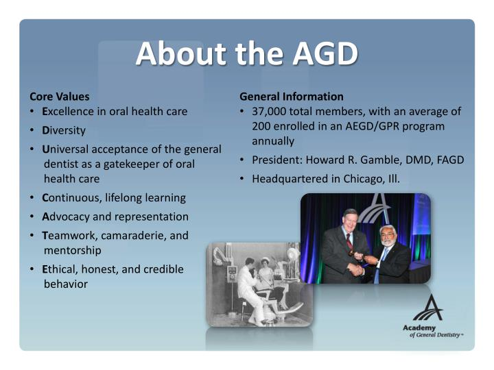 About the AGD