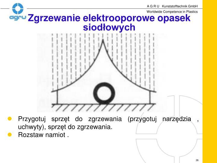 Zgrzewanie elektrooporowe opasek siodłowych