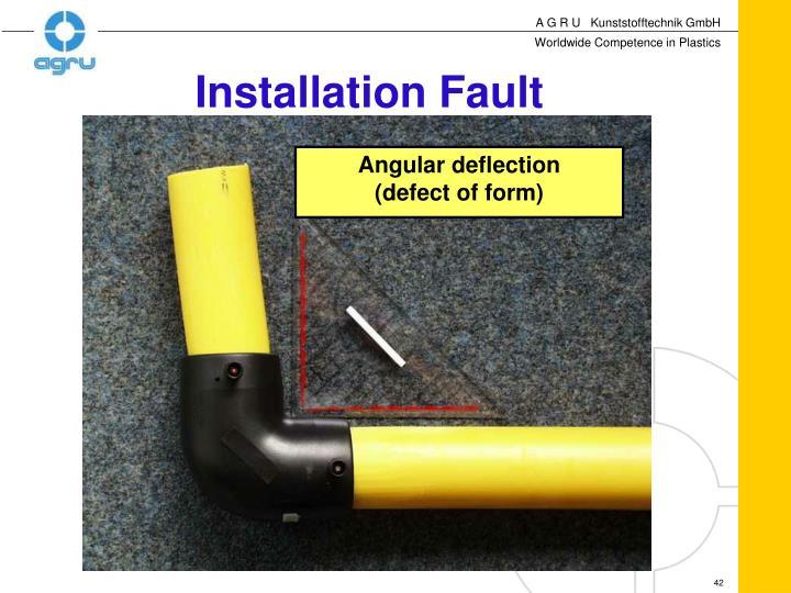 Installation Fault