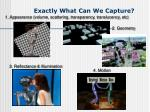 exactly what can we capture