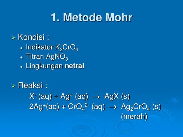 1. Metode Mohr