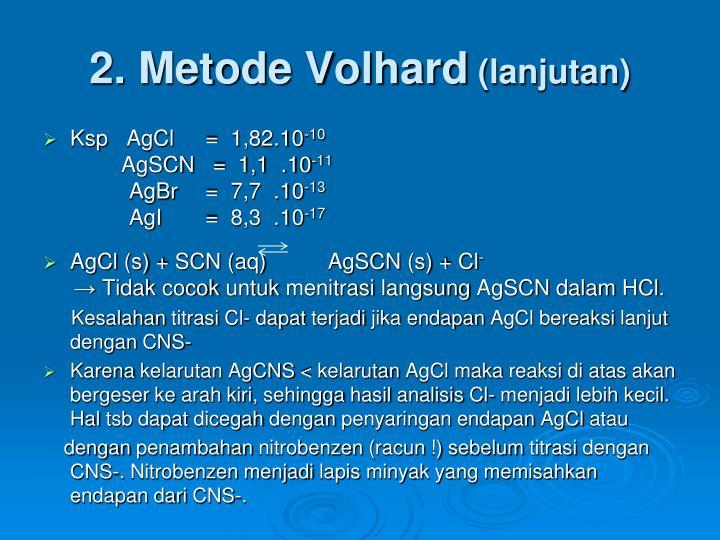 2. Metode Volhard