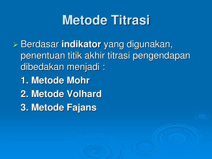 Metode Titrasi