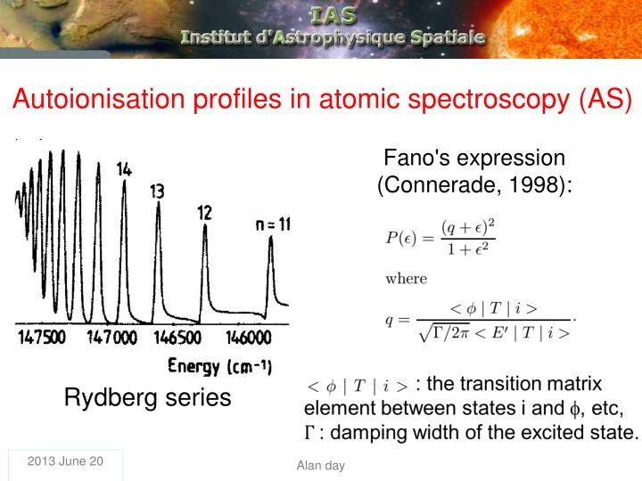 Autoionisation profiles in atomic spectroscopy