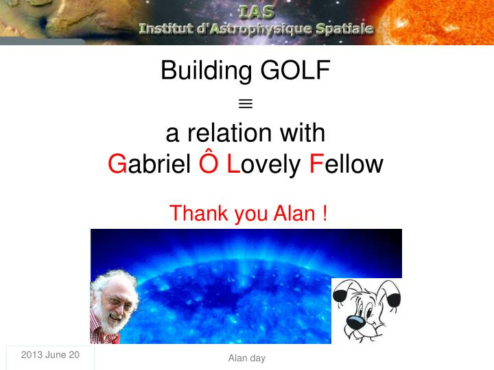 Building GOLF