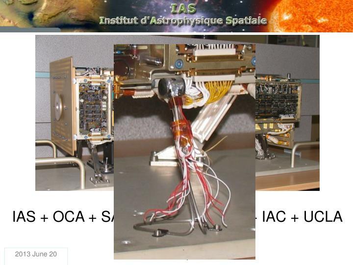 IAS + OCA + SAp + Bordeaux Obs. + IAC + UCLA