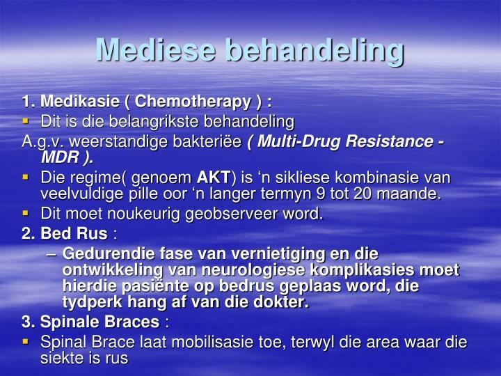 Mediese behandeling