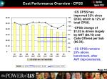 cost performance overview cpss
