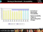 driving to benchmark accessibility