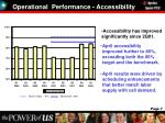 operational performance accessibility