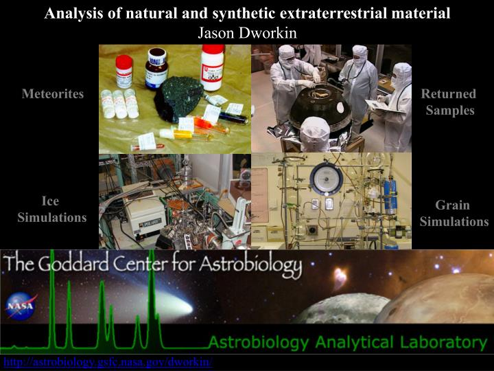 Analysis of natural and synthetic extraterrestrial material