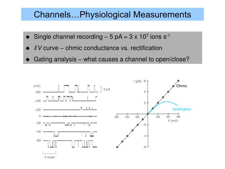 Channels…Physiological Measurements