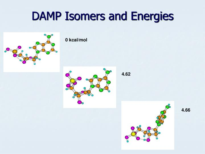 DAMP Isomers and Energies