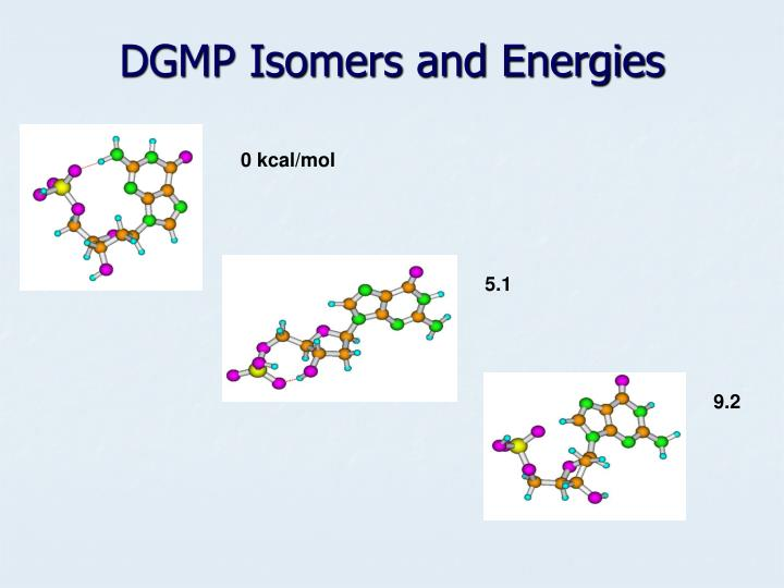 DGMP Isomers and Energies