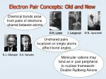 electron pair concepts old and new