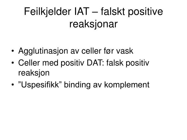 Feilkjelder IAT – falskt positive reaksjonar