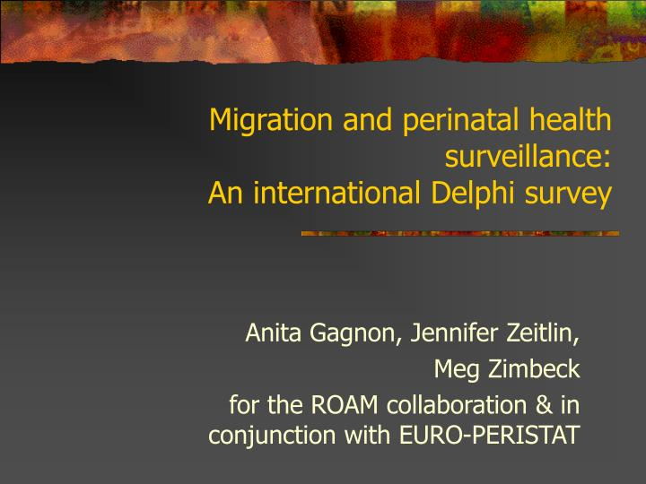 Migration and perinatal health surveillance: