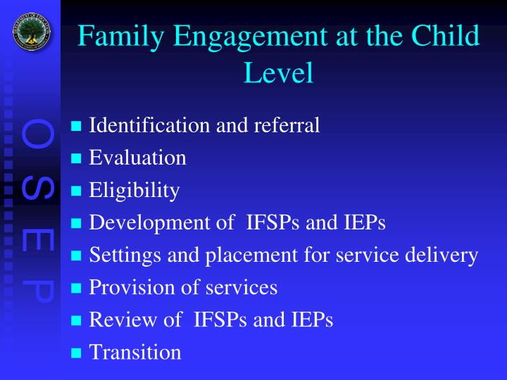Family Engagement at the Child Level