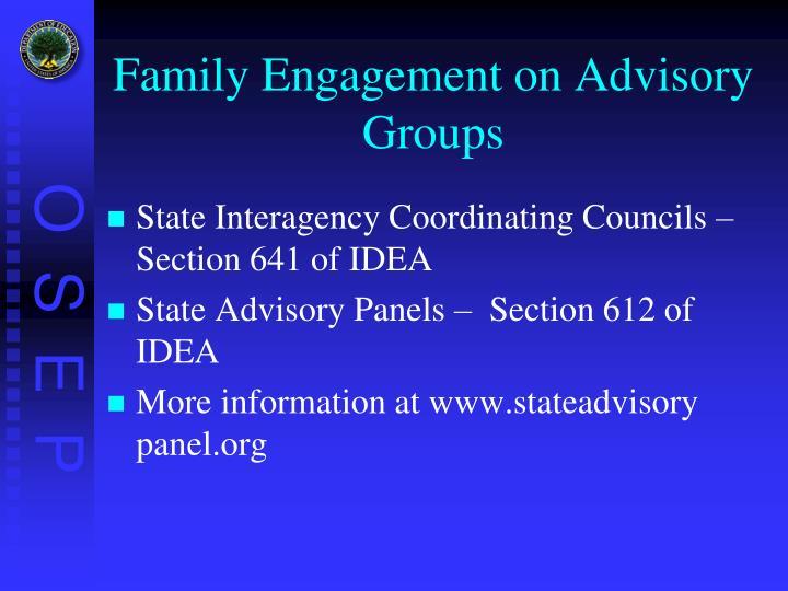 Family Engagement on Advisory Groups