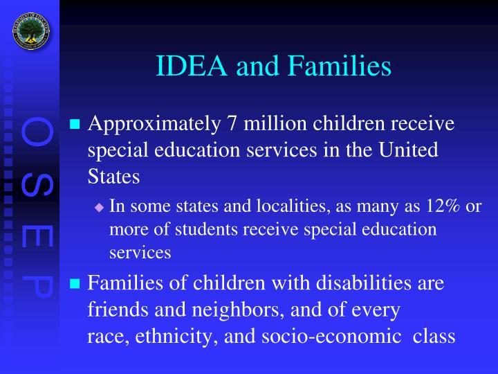 IDEA and Families