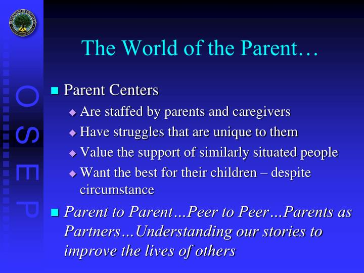 The World of the Parent…