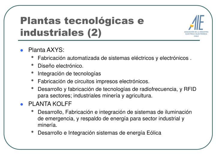 Plantas tecnológicas e industriales (2)